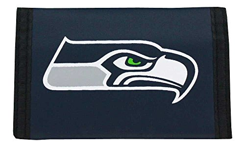 NFL-Seattle-Seahawks-Nylon-Trifold-Wallet
