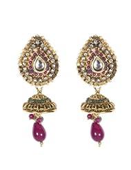 Indosheen Gold Ruby Drop Earrings Fashion Earring For Women