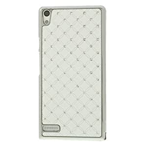 White Starry Sky Diamond Plated Hard Case for HTC Desire 816