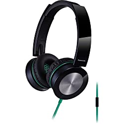 Panasonic 40mm On-Ear Powerful Bass Stereo Lightweight Water-Resistant Noise Isolating Headphones With In-line Microphone and Remote for Apple Iphone/Android Smartphone