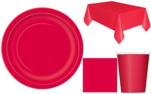sofias-closet-plain-party-set-for-12-solid-colours-birthday-bbq-wedding-party-tableware-cups-napkin-