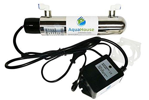 AquaHouse ultra violet 12W UV di trattamento delle acque del sistema 4 litri / minuto sotto il lavello Acqua potabile sterilizzatore