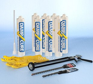 DAMP CURE DIY DAMP PROOF DPC INJECTION CREAM 380 KIT