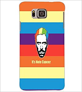PrintDhaba Funny Image D-4040 Back Case Cover for SAMSUNG GALAXY ALPHA (Multi-Coloured)