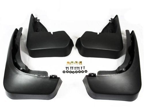 Black Auto parts 2PCS Front Mudguard Splash Guard Mud Flap Fit For 2010 2011 Audi Q5 Not Fit S Line Model