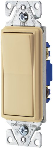 Cooper Wiring Devices 7503V-Box 15-Amp 120-Volt 3-Way Decorator, Ivory