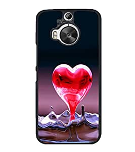 printtech Heart Water Design Back Case Cover for HTC One M9+