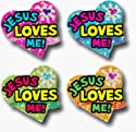 DAZZLE STICKERS JESUS LOVES 120/PK