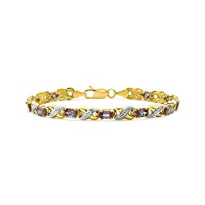 Cultured Alexandrite & Diamond Chameleon Bracelet