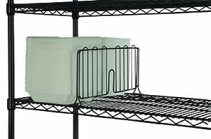 Amazon Com 18 Quot Wide Black Wire Shelf Divider Home Amp Kitchen