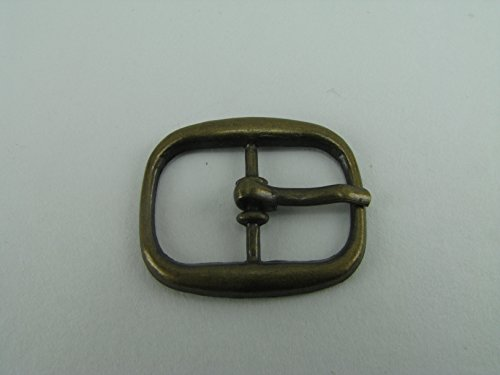 14mm(inside) 26x22mm(outside) - Zinc Alloy Antique Finish Craft Center Bar Buckle - Pack Set of 5 - Premium Finish - Fits 1/2