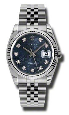 Rolex Datejust Blue Dial Automatic Stainless Steel Watch 116234BLJDJ