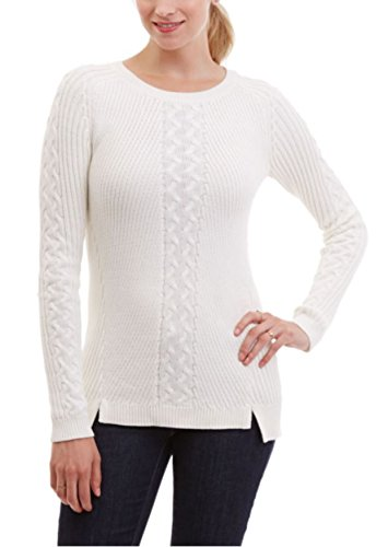 nautica-womens-single-cable-knit-tunic-sweater-large-white