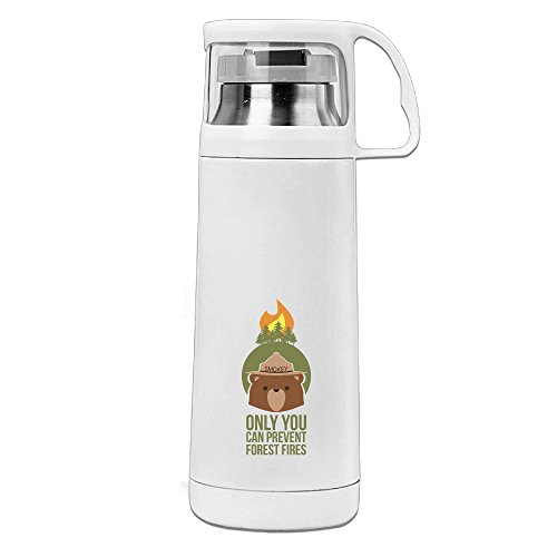 [LALFOUNEE Smokey Bear Forest Fire Vacuum Cup Travel Mug With Handle Cup Water Bottle For Travel Sport Gym School Office And] (Masquerade Halloween Costumes Pinterest)