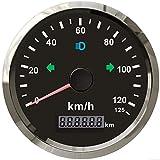 ELING GPS Speedometer Odometer 0-125km/h Mileage Reset for Car Truck Motorcycle ATV UTV 85MM