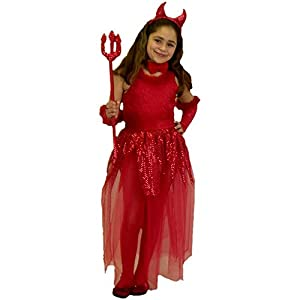 Child's Girl's Devil Costume (Size:X-small 4-6)