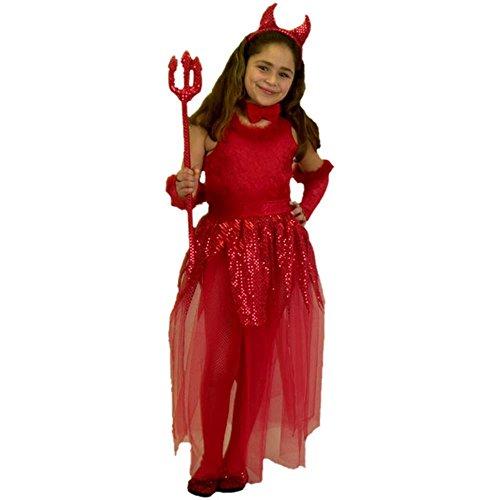 Kid's Girl's Devil Costume (Size:Small 6-8) (Girl Devil Costume)