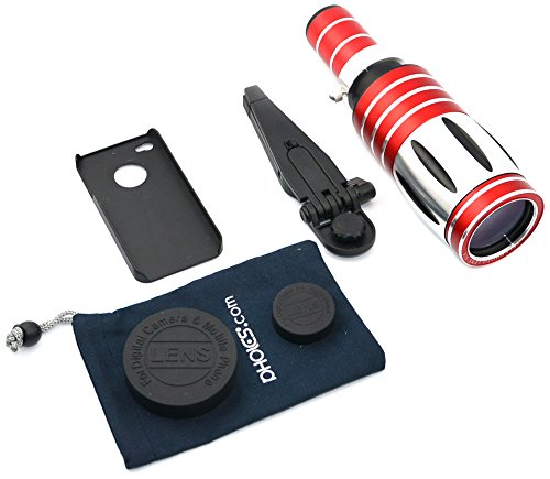 Apexel 50X Optical Zoom Long Focus Telephoto/Telescope Lens Kit With Tripod/Back Case For Apple Iphone 4/4S