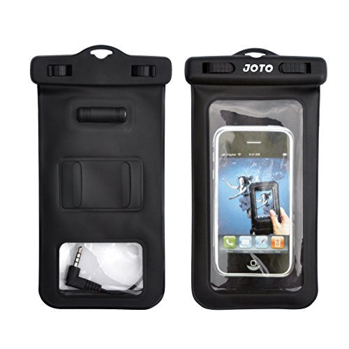 Joto Universal Waterproof Bag Case With Built In Waterproof Earphone Adapter / External Headphone Jack And Armband For Iphone 5S 5 4S 4, Samsung Galaxy S5, S4, S3, Nexus 5, 4, Nokia Lumia 520, 630, 930, Blackberry Z10, Z3, Motorola Moto X, G, E - Also Fit