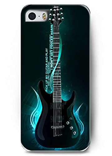 Ouo Stylish Series Case For Iphone 5 5S 5G With The Design Of One Cool Electric Guitar