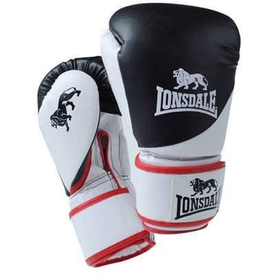 Lonsdale Fight Boxing Glove Black/Red/White Sml/Med