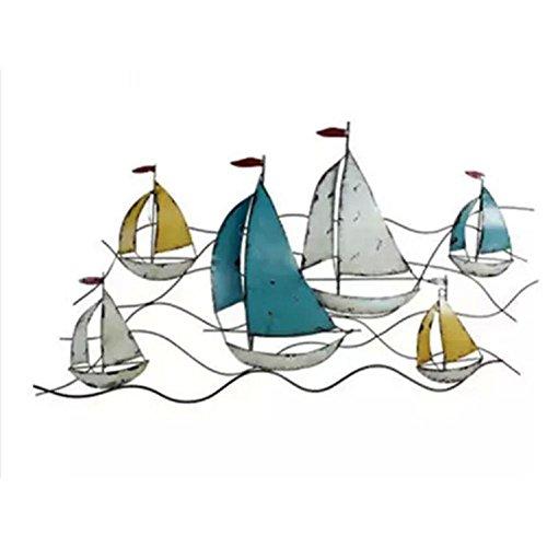 YYH Decorazioni per la casa pareti scultura stereoscopica barca a vela modello a sospensione