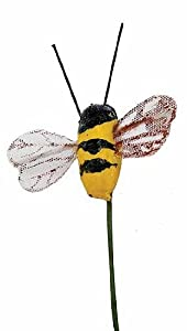 package of 12 artificial mushroom bumble bees for