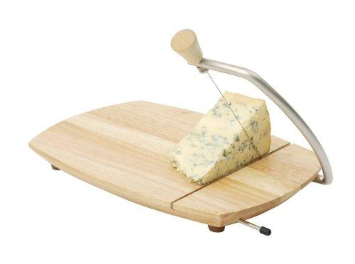 T&G Scimitar - Tabla con alambre para cortar queso (madera de hevea)