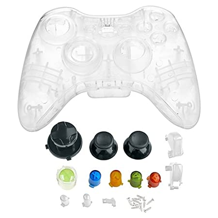 eForCity Crystal Shell for Microsoft Xbox 360 Wireless Controller , Clear
