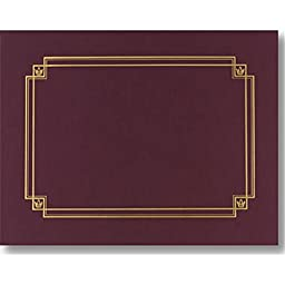 Linen Burgundy Certificate Covers - Pack of 3