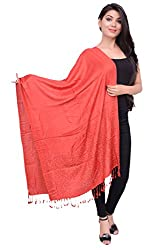 Dream Fashion Stud Work Designer Self Design Jaquard Shawls For Women