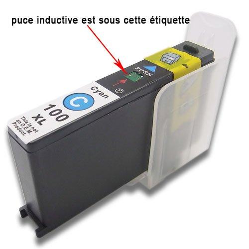 Druckerpatronen komp. für Lexmark 100 100XL S301 S305 S405 S505 S605 S308 S408 S508 S608?S815 S816 Pro205 Pro705 Pro805 Pro905 Pro208 Pro708 Pro808 Pro908 Pro901 (1 Cyan)