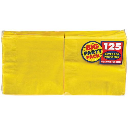 Yellow Sunshine Big Party Pack Beverage Napkins