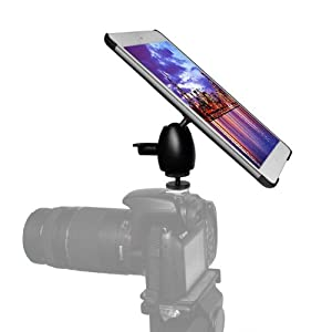 iShot Pro Mounts - iPad mini Camera DSLR or Hot / Cold Shoe Connection Mount Adapter + Medium Ball Head + G8 Pro iPad mini Tripod Mount - Works Great for Teachers, Photography, Music, Video, Tripod Stand, Coaches, Home and Office Use - Mount Your iPad mi