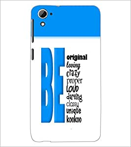 PrintDhaba Quote D-3206 Back Case Cover for HTC DESIRE 826 (Multi-Coloured)