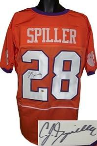 CJ Spiller signed Clemson Tigers Custom Orange Jersey XL- Spiller Hologram by Athlon+Sports+Collectibles