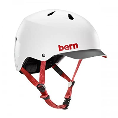 Bern Men's Watts Helmet - Satin White with Grey Brim, Small/54-55.5cm from Bern