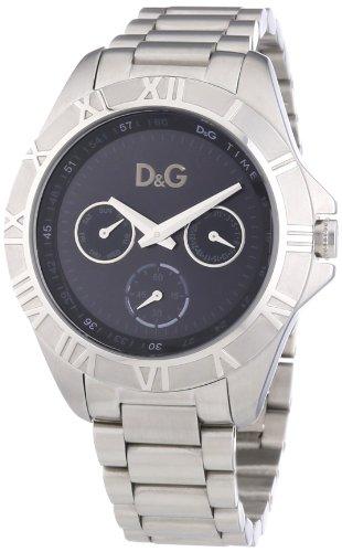 D&G Dolce&Gabbana Chamonix - Reloj analógico de caballero de cuarzo con correa plateada - sumergible a 50 metros