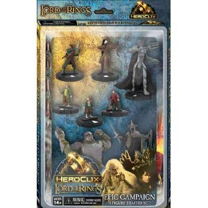 Lord of the Rings Heroclix Starter Set 8 Figures (Heroclix Lord Of The Rings compare prices)