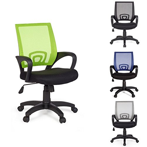 FineBuy-Brostuhl-OLEG-Lime-Grn-Schreibtischstuhl-Stoff-Drehstuhl-mit-Armlehne-Jugend-stuhl-Bro-Sessel-hhenverstellbar-Netz-120-KG-Netz-ohne-Kopfsttze-Wippfunktion-Lendenwirbelsttze