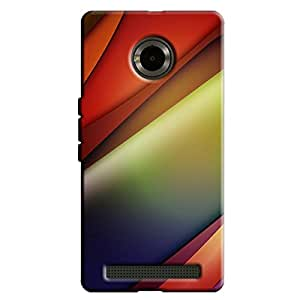 RED DESIGN PATTERN BACK COVER FOR YU YUPHORIA