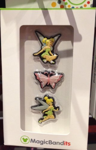 Disney Parks Tinkerbell Magic Band Bandits Set of 3 Charms NEW