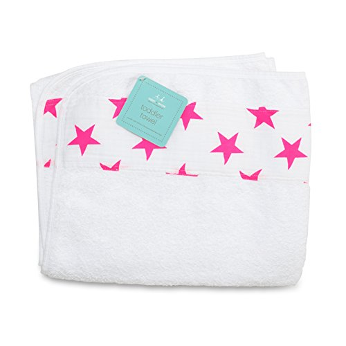 aden + anais Toddler Towel, Fluro Pink