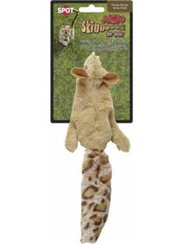 Jumbo Skinneeez Cat Toy - Squirrel
