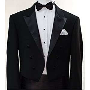 Italian Designer Men's Black Tail Tuxedo - Gay Wedding Tuxedo