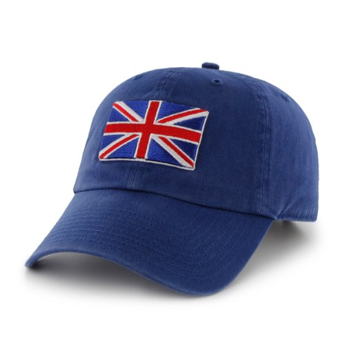 England Country Flag Clean Up Adjustable Cap Royal, One-Size Fits Most