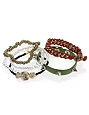 6 Limited Edition Chain & Pave Circle Bracelets