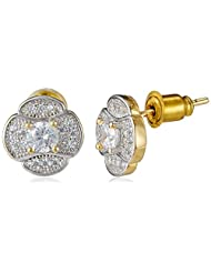 Sia Art Jewellery Stud Earrings For Women (Golden) (AZ2609)