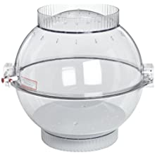 "Bel-Art Scienceware 420290000 Polycarbonate Techni-Dome Vacuum Desiccator with 1 Gas Port, 22"" Width x 22"" Height"