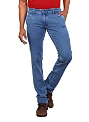 Stone Colored Silky Stretchable Cross Pocket Denims From Bottoms For Men-36